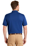 CornerStone CS4020P Mens Industrial Moisture Wicking Short Sleeve Polo Shirt w/ Pocket Royal Blue Back