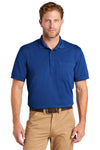 CornerStone CS4020P Mens Industrial Moisture Wicking Short Sleeve Polo Shirt w/ Pocket Royal Blue Front