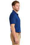 CornerStone CS4020P Mens Industrial Moisture Wicking Short Sleeve Polo Shirt w/ Pocket Royal Blue Side
