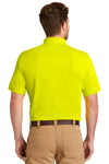 CornerStone CS4020P Mens Industrial Moisture Wicking Short Sleeve Polo Shirt w/ Pocket Safety Yellow Back