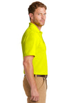 CornerStone CS4020P Mens Industrial Moisture Wicking Short Sleeve Polo Shirt w/ Pocket Safety Yellow Side