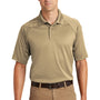 CornerStone Mens Select Tactical Moisture Wicking Short Sleeve Polo Shirt - Tan
