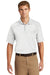 CornerStone CS410 Mens Select Tactical Moisture Wicking Short Sleeve Polo Shirt White Front