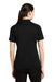 CornerStone CS411 Womens Select Tactical Moisture Wicking Short Sleeve Polo Shirt Black Back