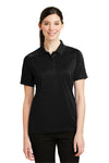 CornerStone CS411 Womens Select Tactical Moisture Wicking Short Sleeve Polo Shirt Black Front