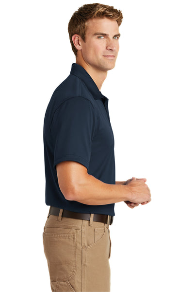 CornerStone CS412 Mens Select Moisture Wicking Short Sleeve Polo Shirt Navy Blue Side