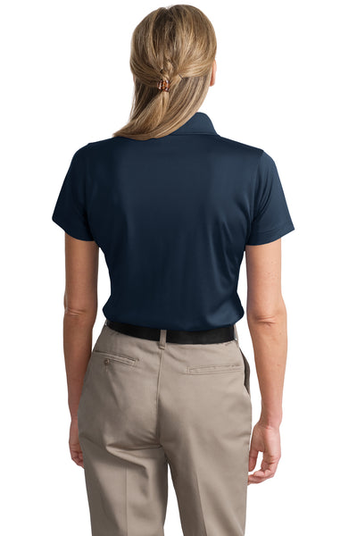CornerStone CS413 Womens Select Moisture Wicking Short Sleeve Polo Shirt Navy Blue Back