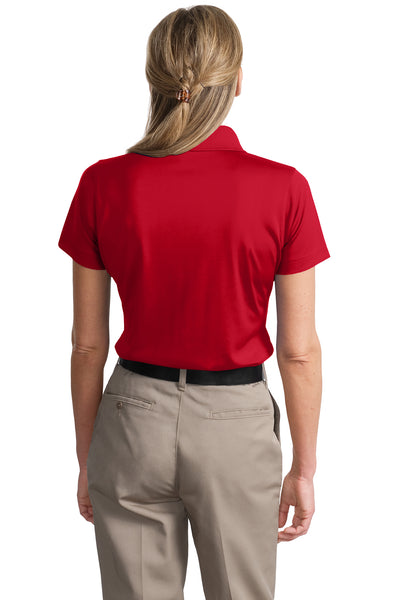 CornerStone CS413 Womens Select Moisture Wicking Short Sleeve Polo Shirt Red Back