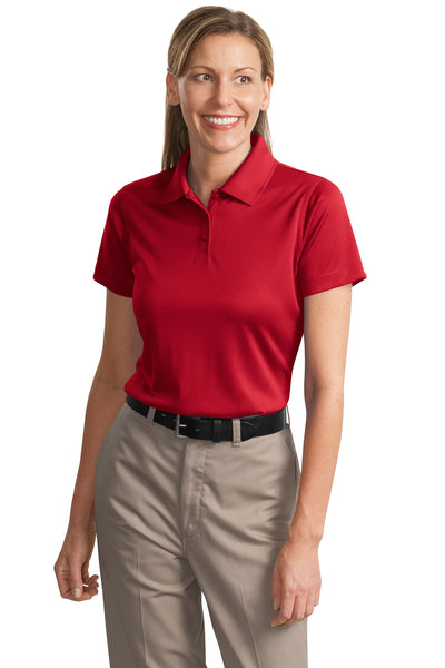 CornerStone CS413 Womens Select Moisture Wicking Short Sleeve Polo Shirt Red Front