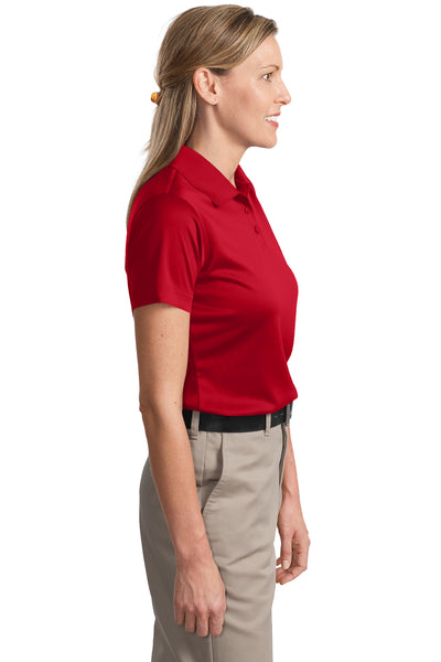 CornerStone CS413 Womens Select Moisture Wicking Short Sleeve Polo Shirt Red Side