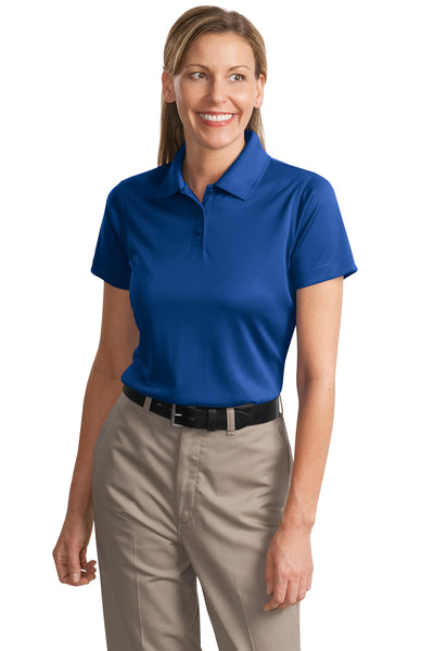 CornerStone CS413 Womens Select Moisture Wicking Short Sleeve Polo Shirt Royal Blue Front