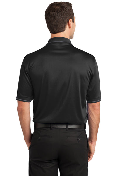 CornerStone CS415 Mens Select Moisture Wicking Short Sleeve Polo Shirt w/ Pocket Black Back