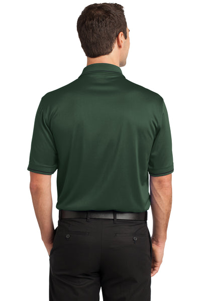 CornerStone CS415 Mens Select Moisture Wicking Short Sleeve Polo Shirt w/ Pocket Dark Green Back