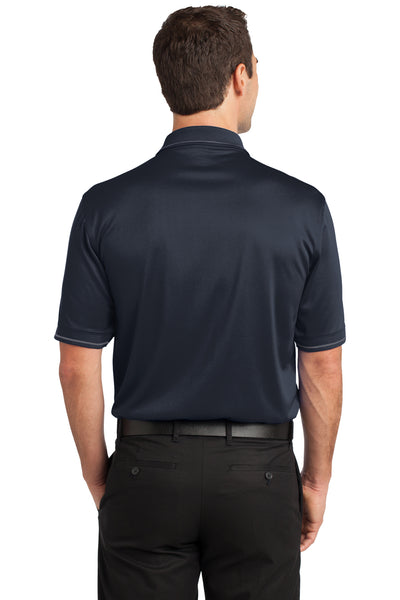 CornerStone CS415 Mens Select Moisture Wicking Short Sleeve Polo Shirt w/ Pocket Navy Blue Back