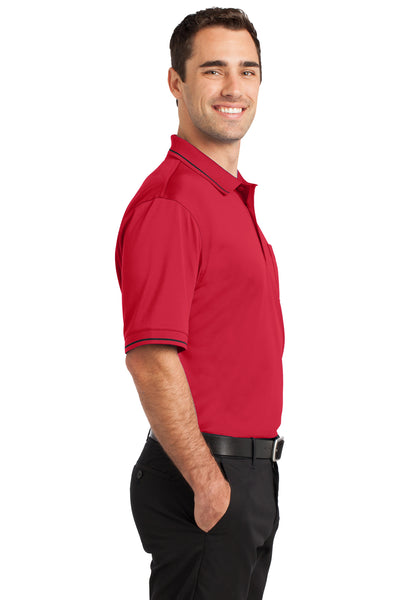 CornerStone CS415 Mens Select Moisture Wicking Short Sleeve Polo Shirt w/ Pocket Red Side