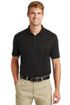 CornerStone CS418 Mens Select Moisture Wicking Short Sleeve Polo Shirt Black Front