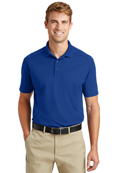 CornerStone CS418 Mens Select Moisture Wicking Short Sleeve Polo Shirt Royal Blue Front