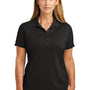 CornerStone Womens Select Moisture Wicking Short Sleeve Polo Shirt - Black