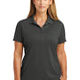 CornerStone Womens Select Moisture Wicking Short Sleeve Polo Shirt - Charcoal Grey