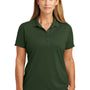 CornerStone Womens Select Moisture Wicking Short Sleeve Polo Shirt - Dark Green