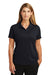 CornerStone CS419 Womens Select Moisture Wicking Short Sleeve Polo Shirt Navy Blue Front