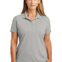CornerStone Womens Select Moisture Wicking Short Sleeve Polo Shirt - Light Grey