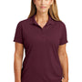 CornerStone Womens Select Moisture Wicking Short Sleeve Polo Shirt - Maroon