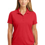 CornerStone Womens Select Moisture Wicking Short Sleeve Polo Shirt - Red
