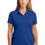 CornerStone Womens Select Moisture Wicking Short Sleeve Polo Shirt - Royal Blue