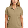 CornerStone Womens Select Moisture Wicking Short Sleeve Polo Shirt - Tan