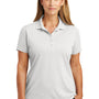 CornerStone Womens Select Moisture Wicking Short Sleeve Polo Shirt - White