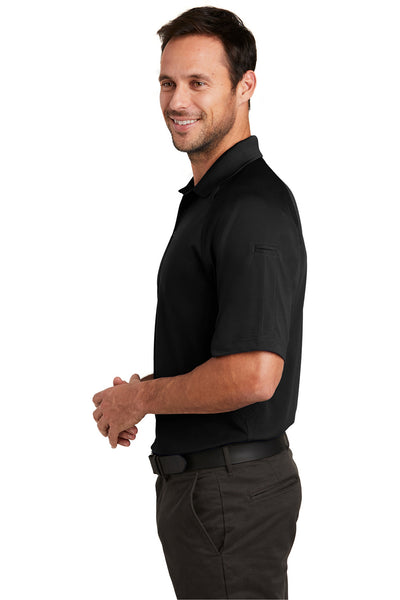 CornerStone CS420 Mens Select Tactical Moisture Wicking Short Sleeve Polo Shirt Black Side
