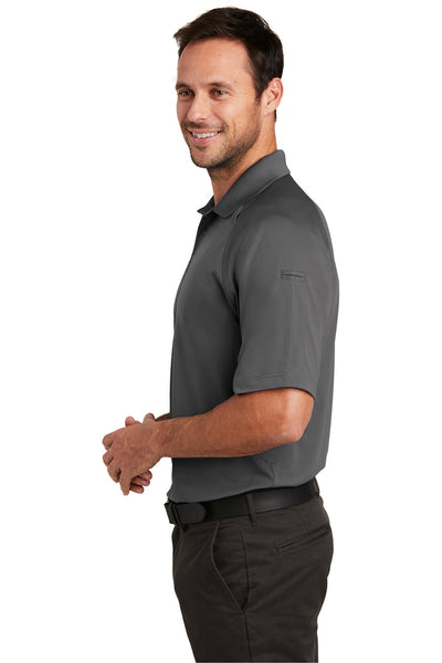 CornerStone CS420 Mens Select Tactical Moisture Wicking Short Sleeve Polo Shirt Charcoal Grey Side