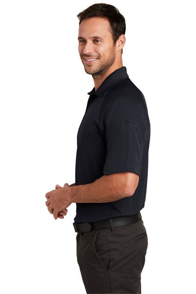 CornerStone CS420 Mens Select Tactical Moisture Wicking Short Sleeve Polo Shirt Navy Blue Side