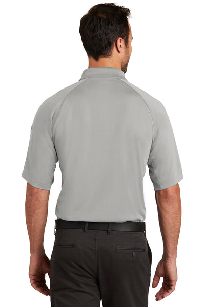 CornerStone CS420 Mens Select Tactical Moisture Wicking Short Sleeve Polo Shirt Light Grey Back