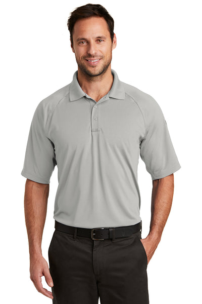 CornerStone CS420 Mens Select Tactical Moisture Wicking Short Sleeve Polo Shirt Light Grey Front