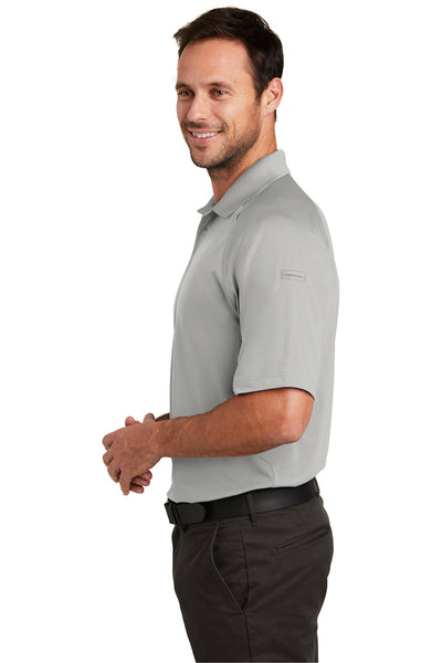 CornerStone CS420 Mens Select Tactical Moisture Wicking Short Sleeve Polo Shirt Light Grey Side