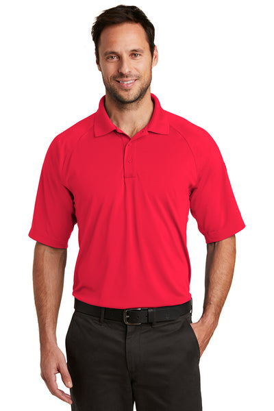 CornerStone CS420 Mens Select Tactical Moisture Wicking Short Sleeve Polo Shirt Red Front