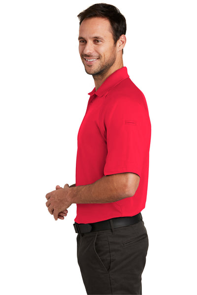 CornerStone CS420 Mens Select Tactical Moisture Wicking Short Sleeve Polo Shirt Red Side