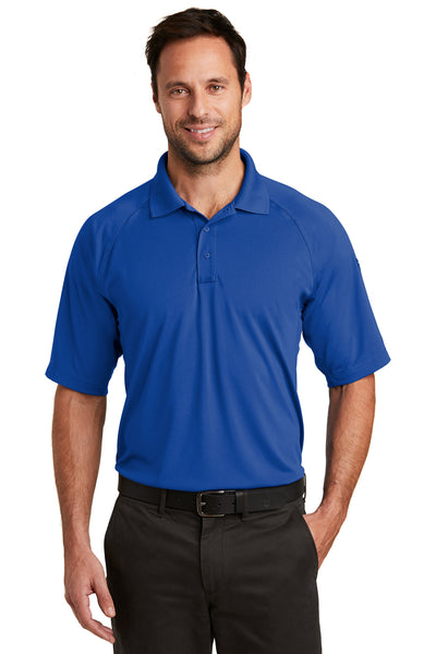 CornerStone CS420 Mens Select Tactical Moisture Wicking Short Sleeve Polo Shirt Royal Blue Front