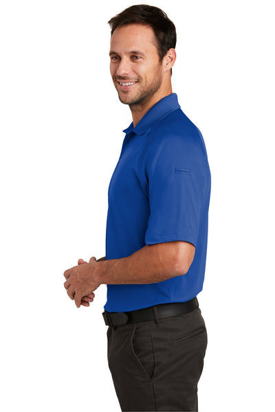 CornerStone CS420 Mens Select Tactical Moisture Wicking Short Sleeve Polo Shirt Royal Blue Side