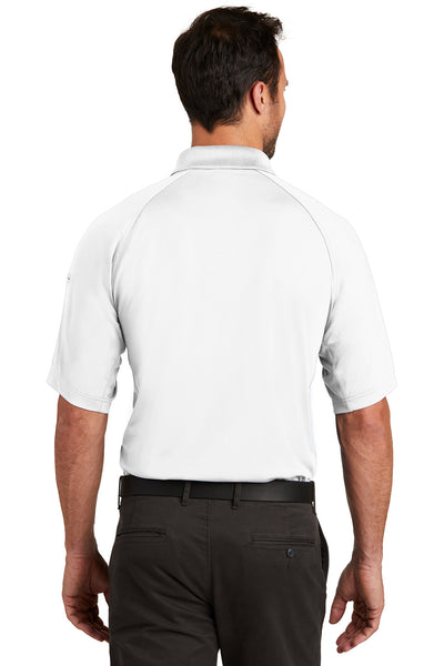 CornerStone CS420 Mens Select Tactical Moisture Wicking Short Sleeve Polo Shirt White Back