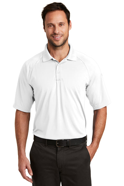 CornerStone CS420 Mens Select Tactical Moisture Wicking Short Sleeve Polo Shirt White Front