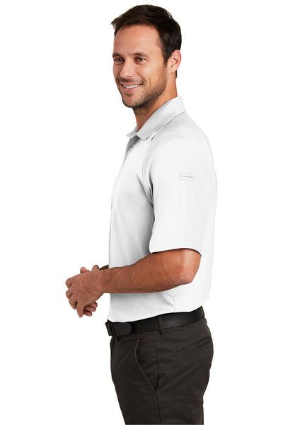 CornerStone CS420 Mens Select Tactical Moisture Wicking Short Sleeve Polo Shirt White Side