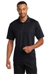 CornerStone CS421 Mens Gripper Moisture Wicking Short Sleeve Polo Shirt Black Front