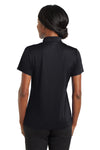 CornerStone CS422 Womens Gripper Moisture Wicking Short Sleeve Polo Shirt Black Back