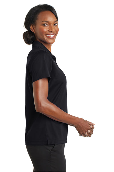 CornerStone CS422 Womens Gripper Moisture Wicking Short Sleeve Polo Shirt Black Side
