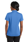 CornerStone CS422 Womens Gripper Moisture Wicking Short Sleeve Polo Shirt Blue Lake Back