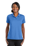 CornerStone CS422 Womens Gripper Moisture Wicking Short Sleeve Polo Shirt Blue Lake Front