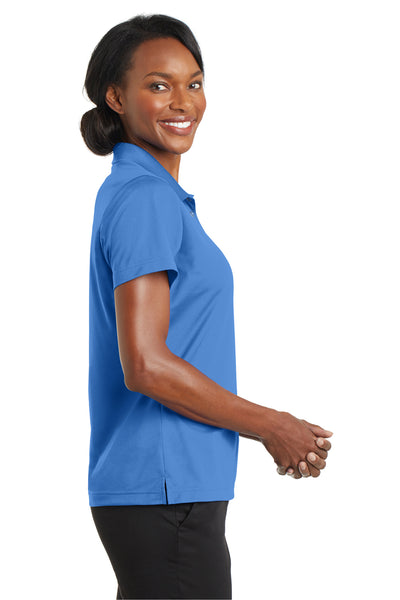 CornerStone CS422 Womens Gripper Moisture Wicking Short Sleeve Polo Shirt Blue Lake Side